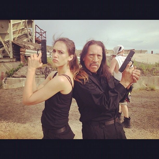 Exciting - photos from Machete Kills. Featured here is International Latin Treasure Danny Trejo with Jessica Alba.