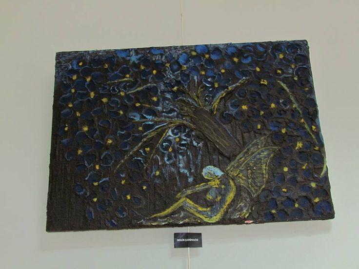 Alçı- Akrilik boya- Yağlı boya-Kelebek..Plaster-Acrylic paint-Oil paint-Butterfly..for sale-BURSA