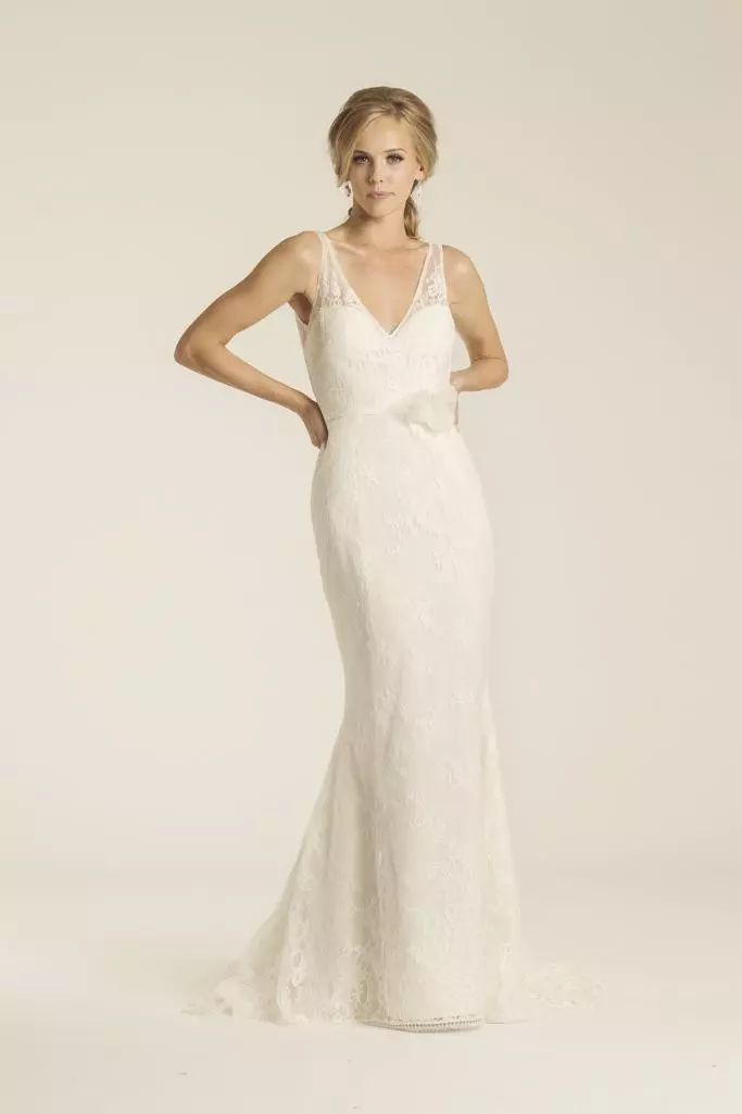 Malibu Lace Wedding Gown Made In San Francisco California By Amy Kuschel