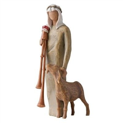 Willow Tree - Nativity Collection - Zampognaro Shepherd with bag pipe $44 - Australian store. International shipping available