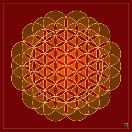 La Fleur de Vie. Mandala by Laurence Dutilleul.