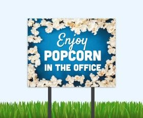 Make the leasing office a watering hole for residents with this fun event bandit sign. The perfect time to discuss renewals and referrals! #popcornmarketing #apartmentmarketing #residentretention