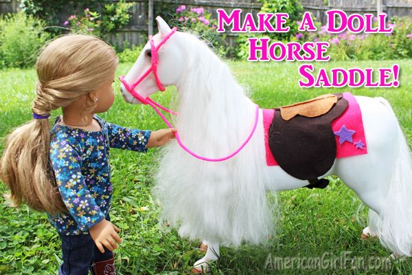 How To Make A Doll Horse Saddle. (Click through for tutorial)
