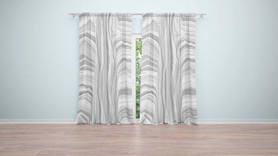 Chic Gray Scale Elegant Window Curtains 2 50 X 84 Curtain