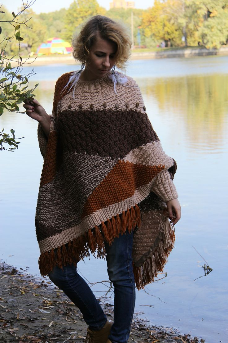 Native American boho poncho