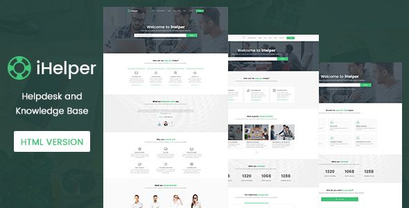 iHelper - Helpdesk and Knowledge Base Template HTML - http ...