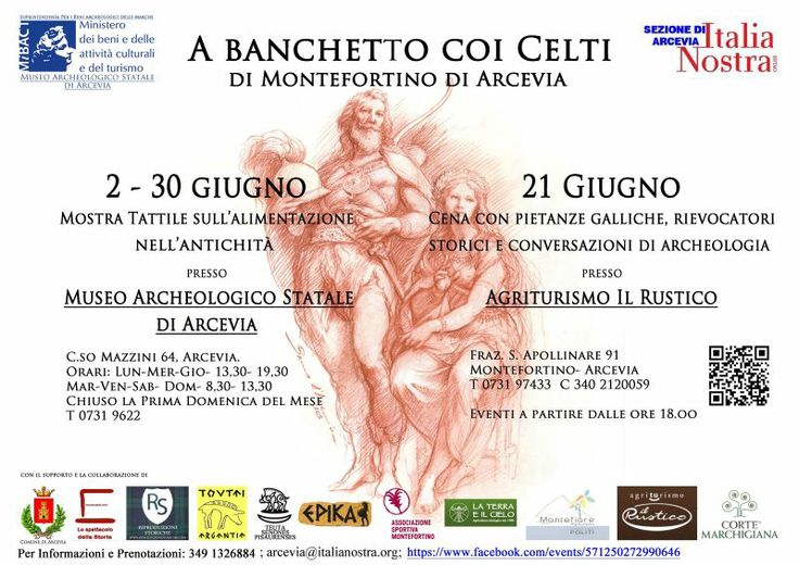 Banquet with the Celts of Montefortino: exhibition on ancient food and dinner #Arcevia #Marche #Italy