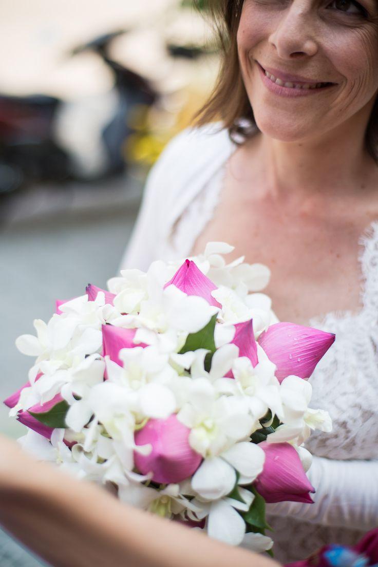 100 best lotus images on pinterest flower arrangements lotus gorgeous bouquet using local lotus and orchids flower design by hoi an events weddings dhlflorist Image collections
