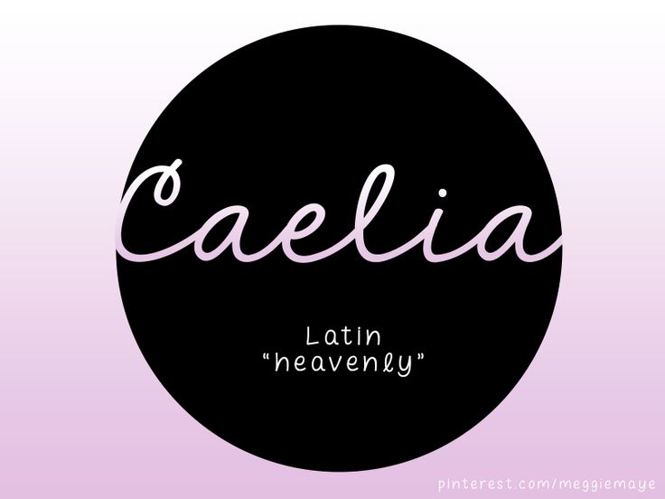 """#Caelia is a Latin name meaning """"heavenly"""" that fits with today's trendy Roman names like #Aurelia. Caelia was an Aurthurian legend character and appears as a faerie queen in multiple Elizabethan works. Caelia is the feminine form of Caelius, a family name derived from Caelum which also meant the sculptor's chisel. Caelia is a constellation introduced by Nicolas Louis de Lacaille in the 17th century. #babynames #girlnames #latinnames #roman #art #heaven #star #stars"""