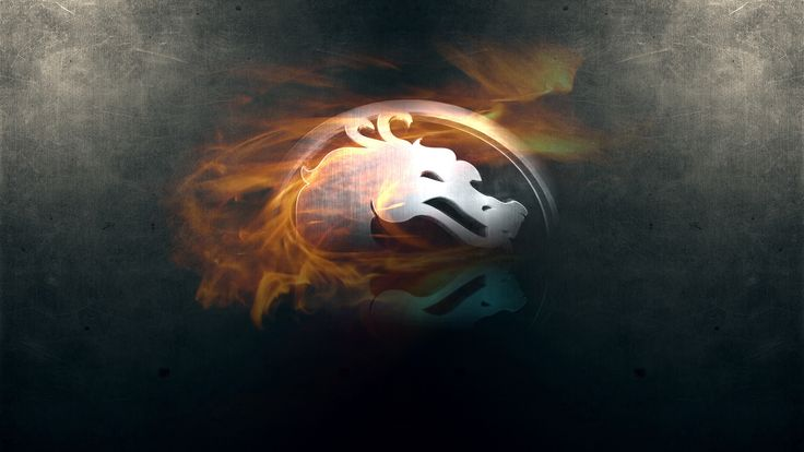 Charming Mortal Kombat Dragon Fire Background Reflection Wallpaper Wallpaper