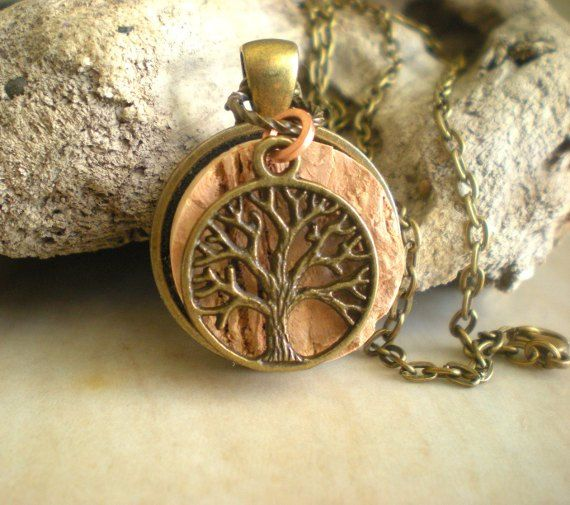 Cork Necklace Wine Cork Jewelry Upcycled by MaddDoggofTomorrow