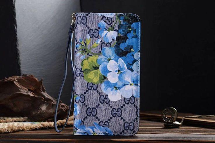 Galaxy S7 Wallet Case Gucci Blue Flower