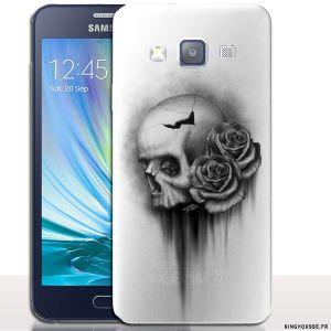 Coque pour samsung galaxy a3 Skull & Roses - Coque téléphone portable. #A3 #Skull #Coque #samsung #originale #case #cover