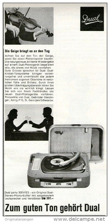 Original-Werbung/Inserat/ Anzeige 1959 - DUAL PLATTENSPIELER PARTY 300V  - ca. 105 x 210 mm