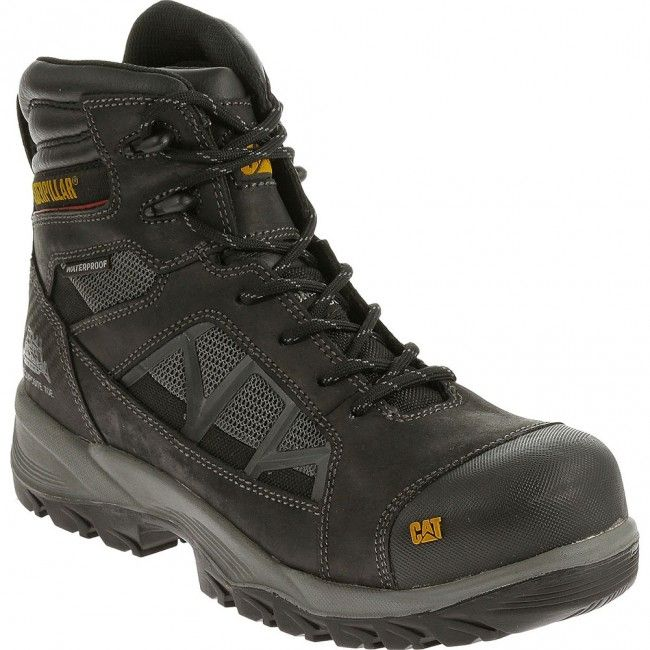 5093d589670a Puma Borneo Black Mid S3 SRC HRO Safety Boots with Composite Toe Cap. 90604  Caterpillar Men s Compressor Safety Boots - Black www.bootbay.com