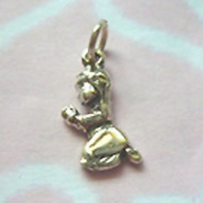 Sterling Silver Praying Girl Charm - Perfect gift to commemorate the Christening.