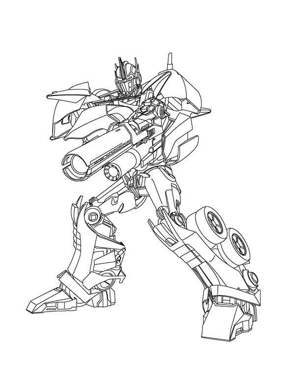 Rescue Bots Kleurplaat Transformers Optimus Prime Great Bazooka In