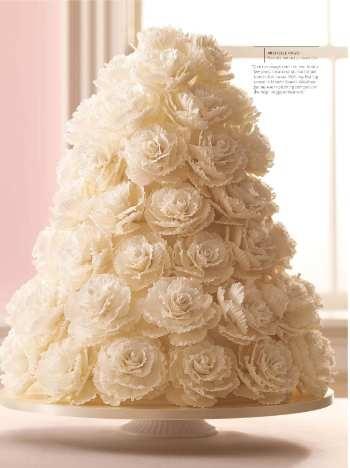 Sylvia Weinstock's wedding cake. Martha Stewart Weddings. Winter, 2010