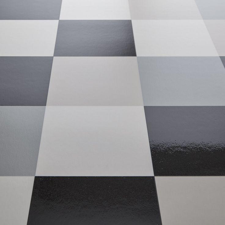hekto grey black chequered tile vinyl flooring. Black Bedroom Furniture Sets. Home Design Ideas
