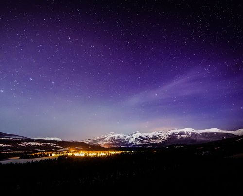Jasper National Park is a designated Dark Sky Preserve.  Attend its Dark Sky Fest!  Learn more at http://www.examiner.com/article/light-up-your-night-sky-with-jasper-s-dark-sky-festival