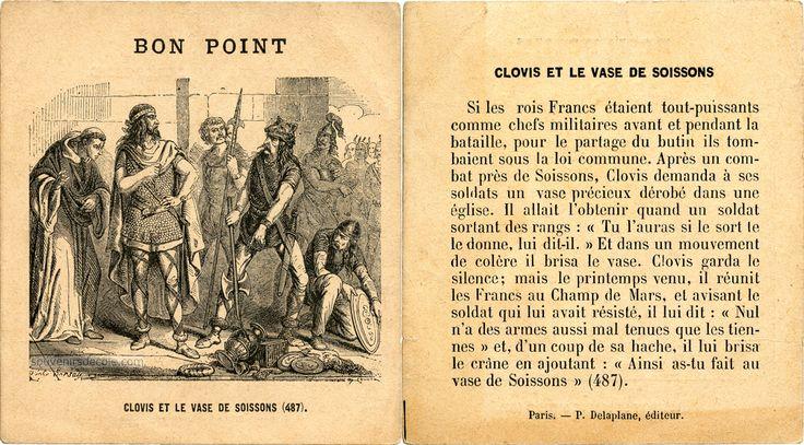 Bon point - Clovis et le vase de Soissons (487) (from http://souvenirsdecole.com/picture?/149) Éditeur P. Delaplane, éditeur, Paris