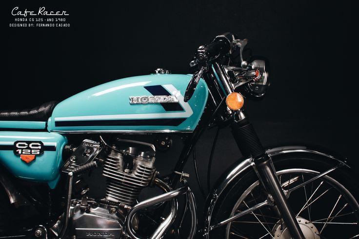 Projeto de customização de uma moto Honda CG 125 ano 1980 em uma Café Racer.