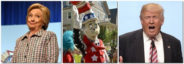 2016-7-26  - Presidential Poll: Would you vote for The Cat in the Hat over Hillary Clinton and Donald Trump?  (Taken on the Republican Newsroom page.... poll now closed... I think the numbers have changed a bit but I'll bet most would vote for Clinton or the Cat over Trump ANY day!)