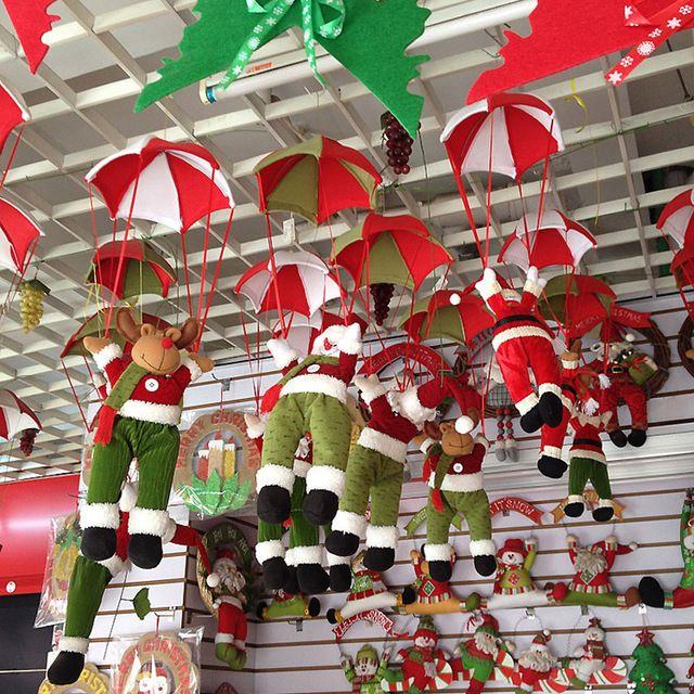 Новый Рождество Очарование Украшения Для Дома Парашютом Санта-Клауса Рождественские Снеговик Украшения Фестиваль Подарок