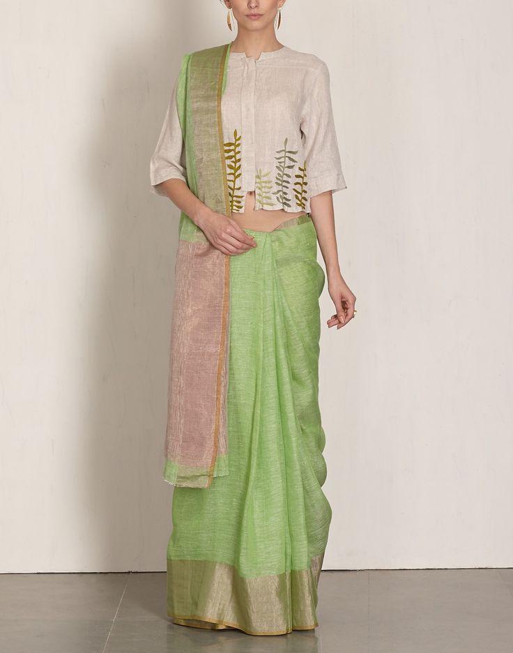 Green Jari Sari-Anavila