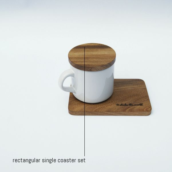 Rectangular Single Coaster Set #matatimur