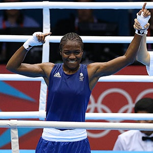 Nicola Adams, (British) first ever winner of olympic gold in women's boxing