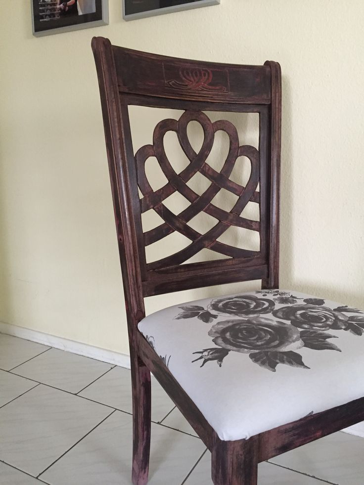 Annie sloane painted & distressed, covered chair