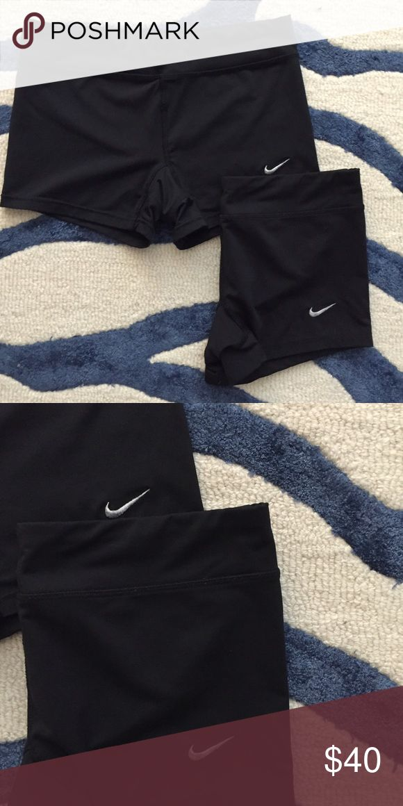 Pair of Nike Spandex Shorts Used - Great condition - Slight discoloration on checks from wear (pictured) - Both size small Nike Shorts