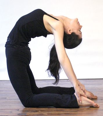 camel pose is wonderful after a day of sitting on an