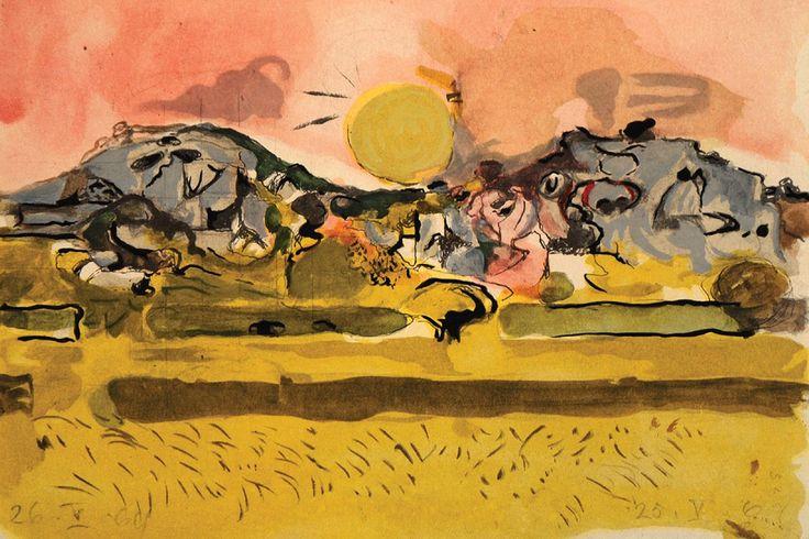 Graham Sutherland | 'Study for Folded Hills' | Discover Goldmark