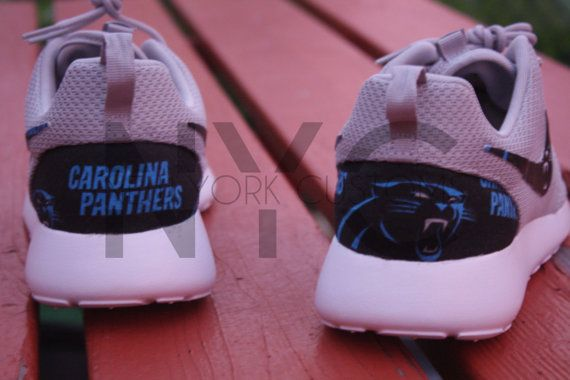 Carolina Panthers Football Nike Roshe Run by NYCustoms on Etsy