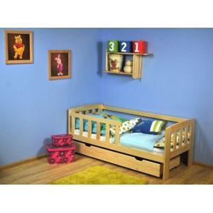 Dětská postel z masivu Ela se zábranou - česká výroba 3300 70*160cm