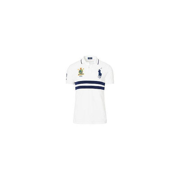 Polo Ralph Lauren Slim-Fit Big Pony Polo Shirt (90 CAD) ❤ liked on Polyvore featuring men's fashion, men's clothing, men's shirts, men's polos, mens embroidered shirts, mens mesh shirt, mens slim fit shirts, ralph lauren mens shirts and mens classic fit shirts