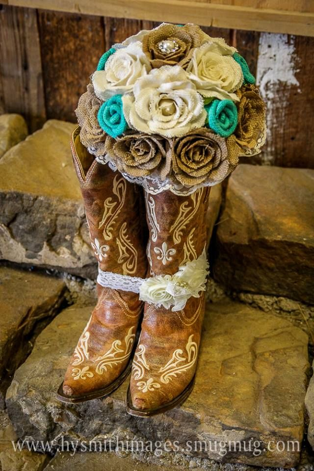 Burlap Bouquet for a Western Wedding!