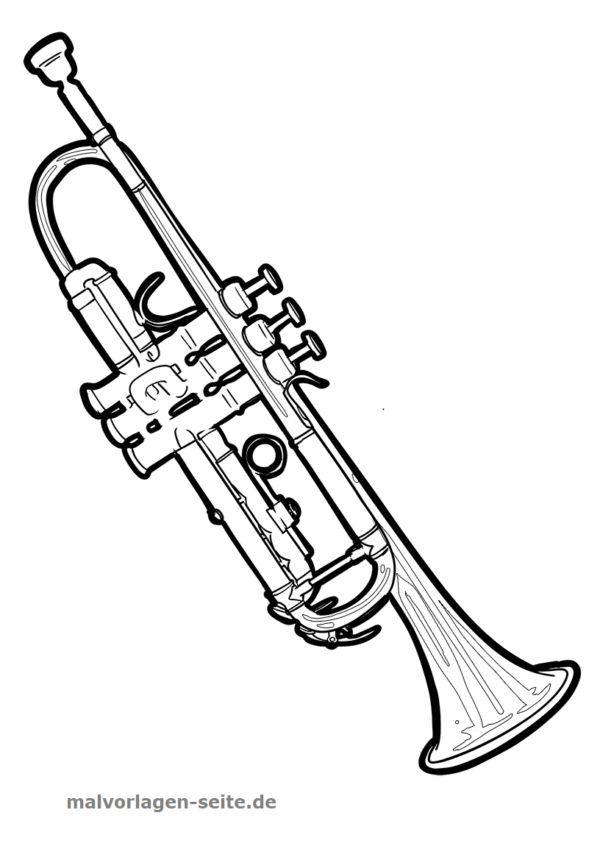 trompete malvorlagen trompete  malen und färben für