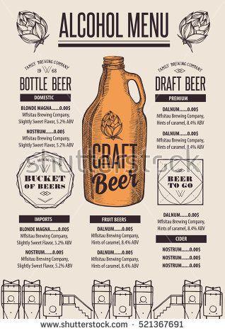 445 best Food Menu Design images on Pinterest Food menu design - beer menu