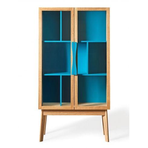 Avon Modern Display Cabinet | Water Blue #interiordesign #woodman #furniture #homedecor #livingroom #home #designerfurniture