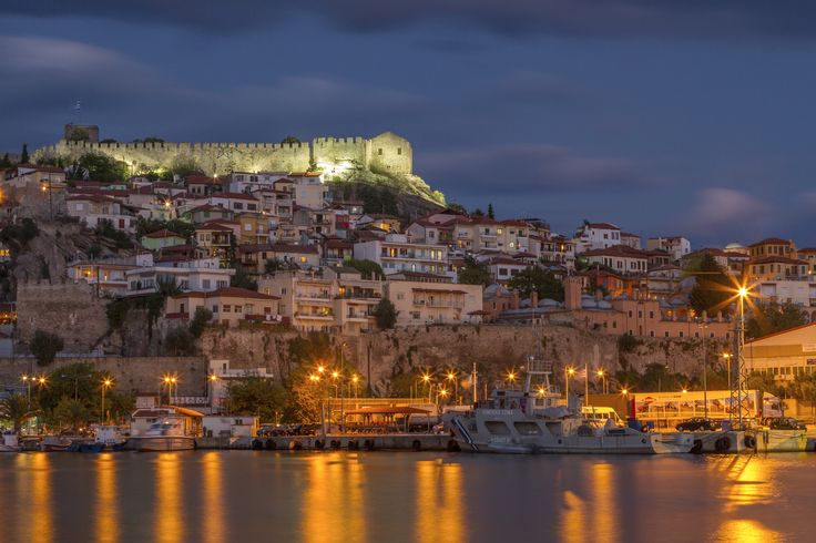 Kavala's Old Town - The Old Town of the city of Kavala, in Macedonia, Greece, as seen from the city's harbor.