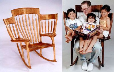 kind of weird, but cool. A story chair  Have never seen one before. Pretty awesome: Idea, Rocks Chairs, Rockers, Big Families, Grandkids, Grand Kids, Reading Chairs, Stories Time, Grandparent