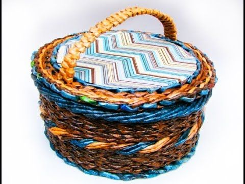 Elena Tischenko's video tutorial on weaving holders for a basket from newspapers. In this lesson the weaver continues making the beginners familiar with the ...