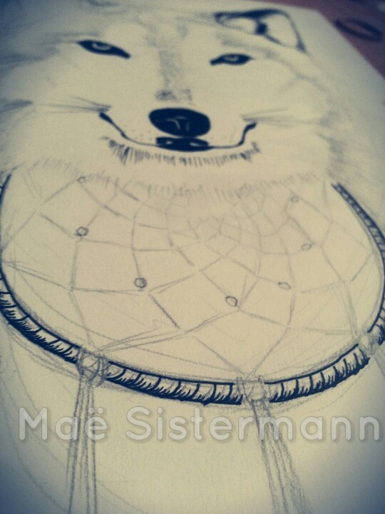 wolf dreamcatcher drawing related - photo #31