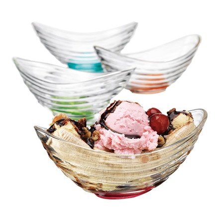 4 Piece Joelle Banana Split Bowl Set. Apes, you need these, right?
