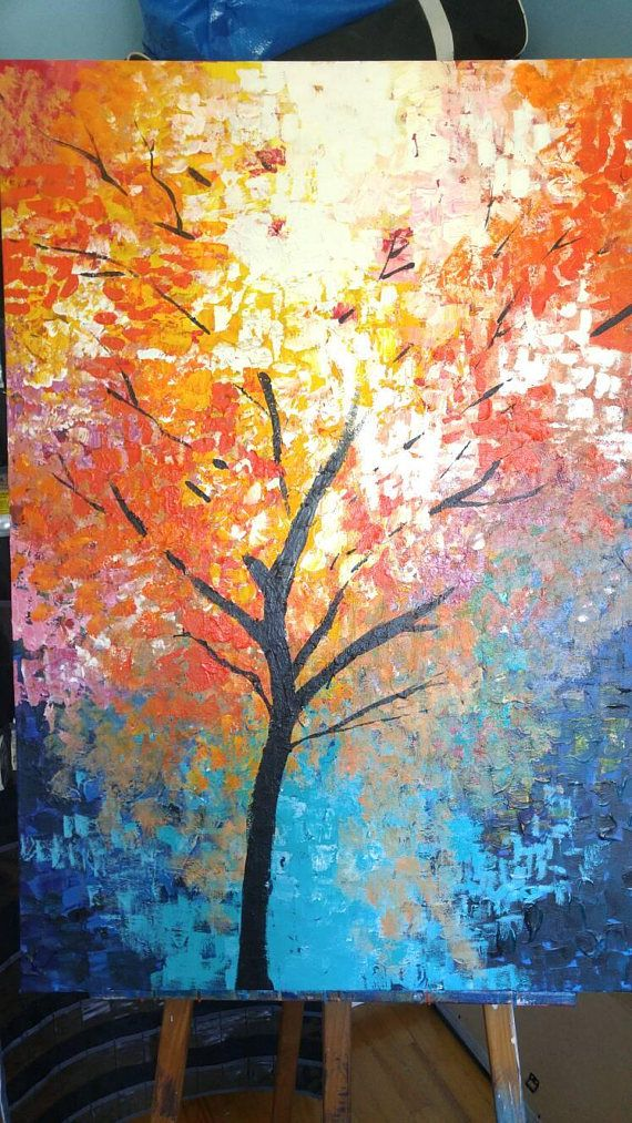 Check out this item in my Etsy shop https://www.etsy.com/ca/listing/531805798/bright-tree-acrylic-painting-30-x-40