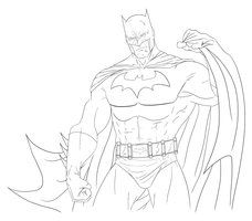 Batman Digital Sketch By SLewis18