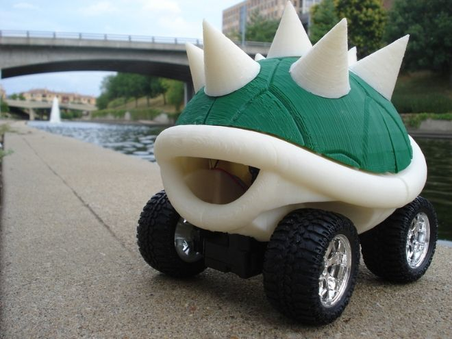 That is a remote control spiny shell.: Car, Control Spiny, Mario, Random, Turtle Shells, Game, Space Shuttle
